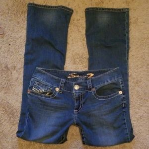 Seven7 boot cut jeans. Size 8